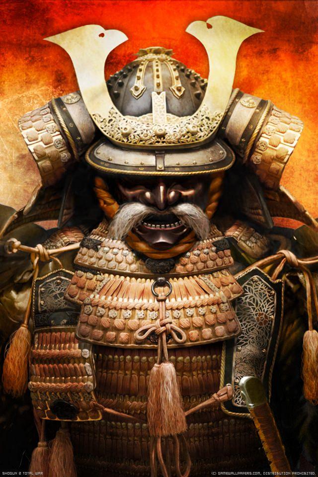 武士の甲冑のスマホ用壁紙(iPhone用/640×960)