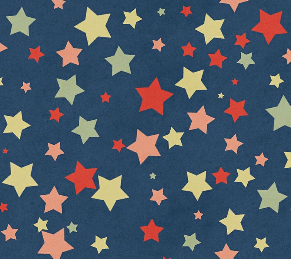 かわいいクラシックな星のスマホ用壁紙(Android用/960×854)