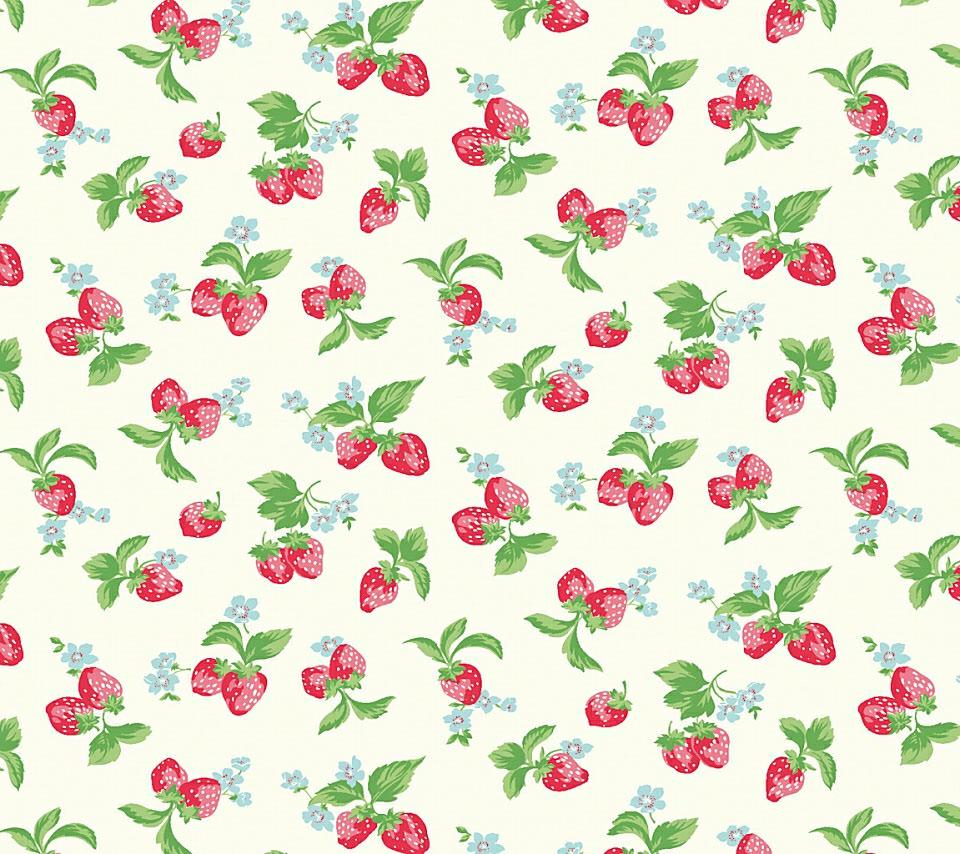 キュートなイチゴのスマホ用壁紙(Android用/960×854)