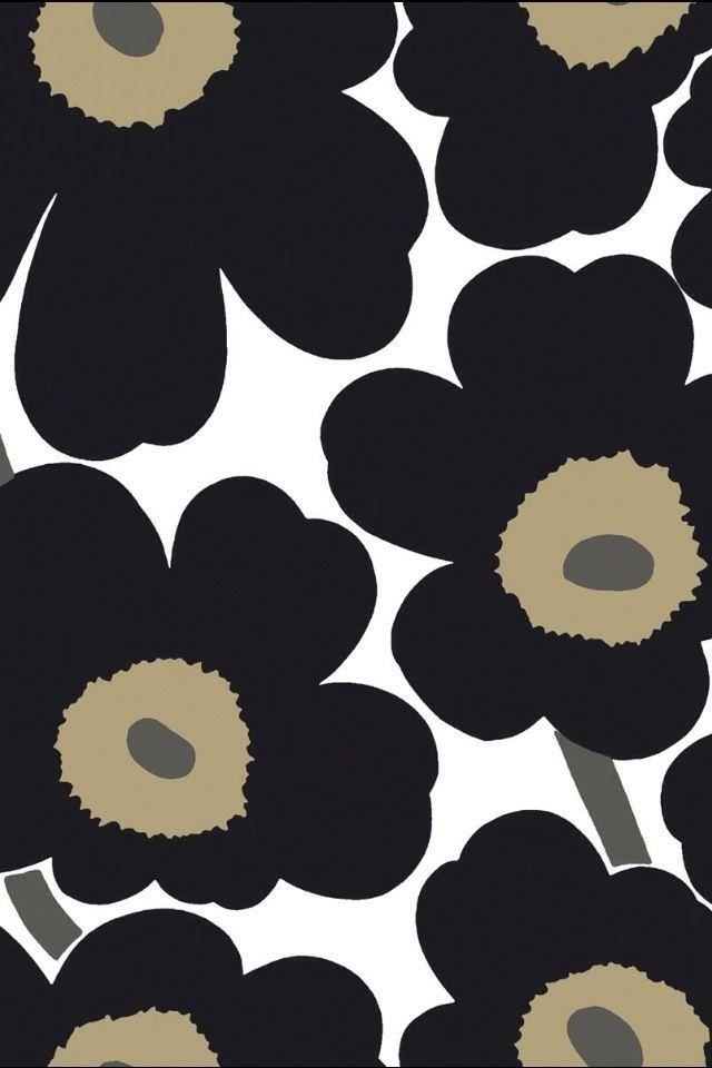 かわいい花柄のスマホ用壁紙(iPhone用/640×960)