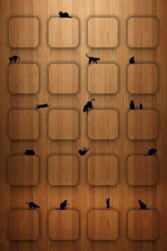 かわいい猫の棚 スマホ用壁紙 Iphone用 640 960 Wallpaperbox