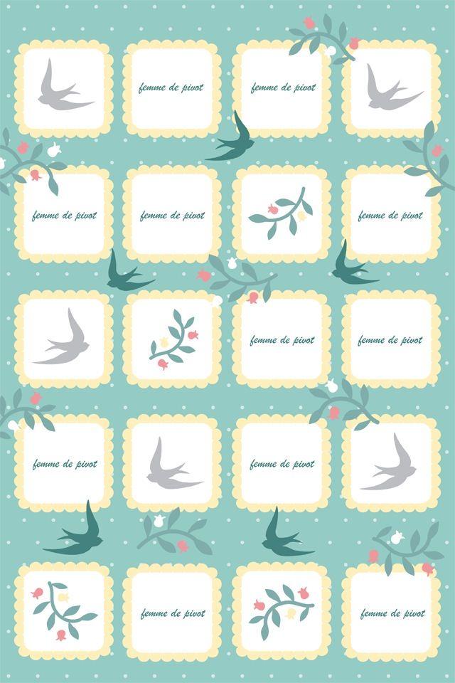 かわいいガーリーなスマホ用壁紙(iPhone用/640×960)