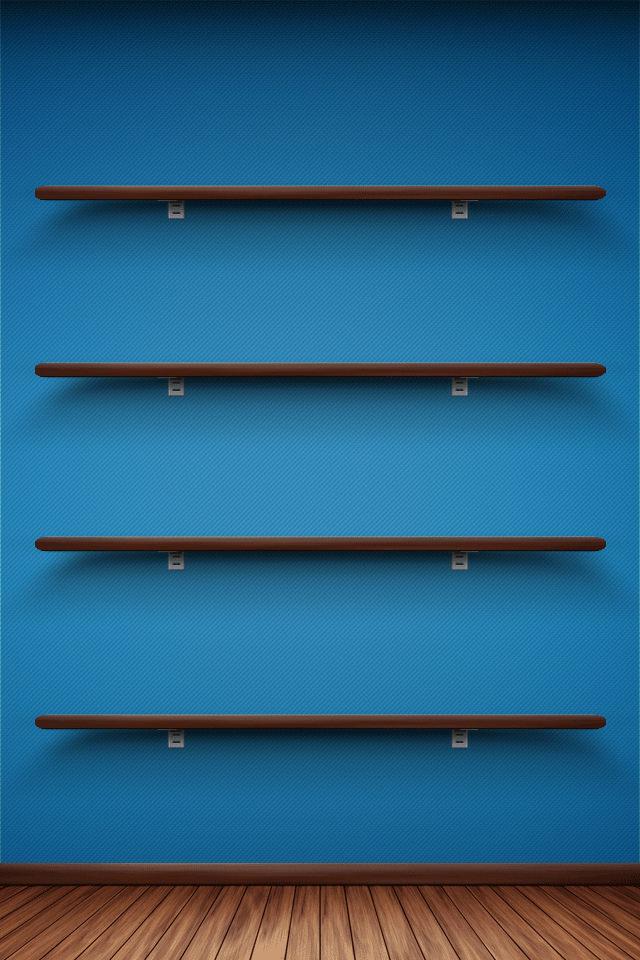 綺麗なブルーのスマホ用壁紙(iPhone用/640×960)