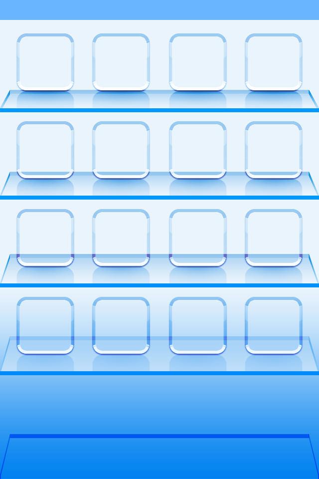 アクア調の棚のスマホ用壁紙(iPhone用/640×960)