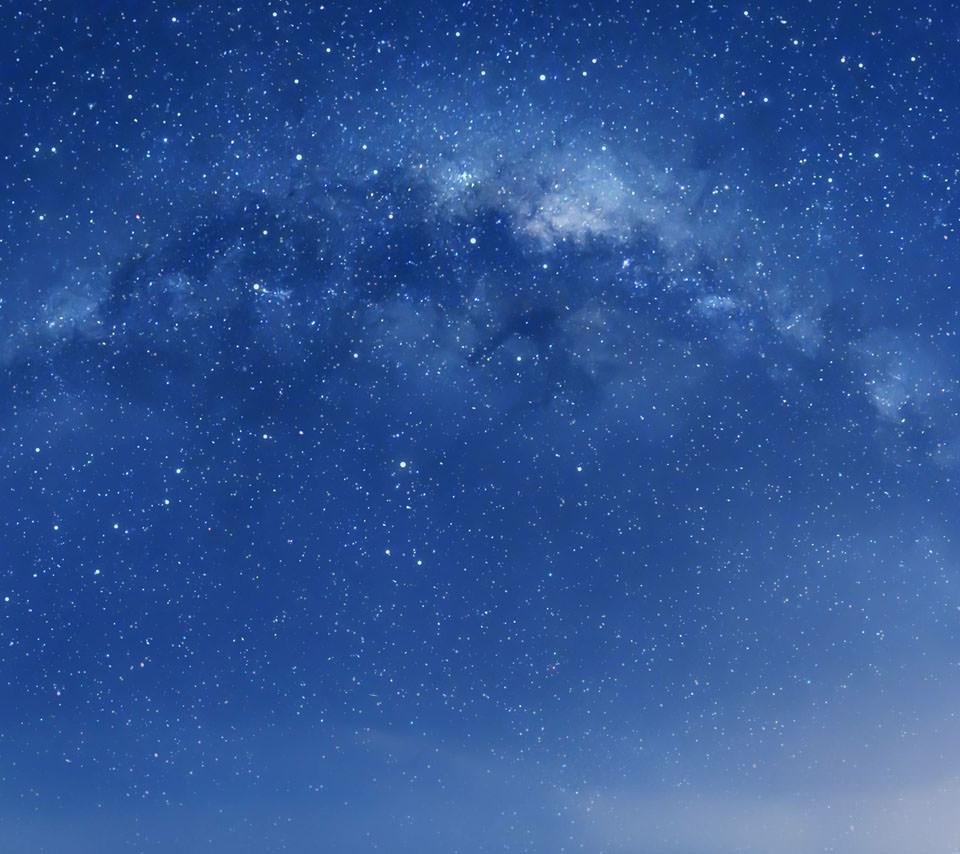 綺麗な銀河のスマホ用壁紙(Android用/960×854)