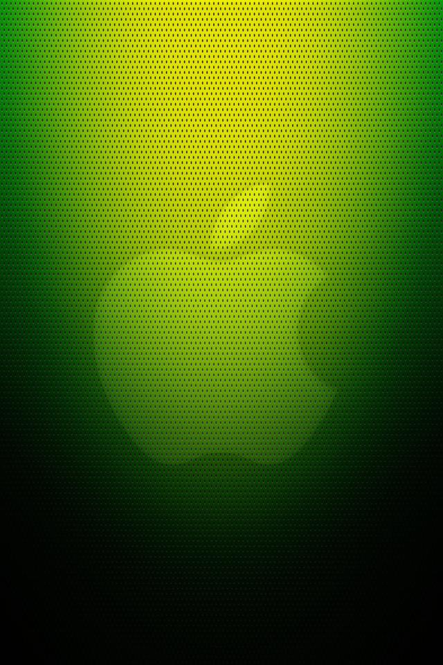 緑のアップルロゴ スマホ用壁紙(iPhone用/640×960)