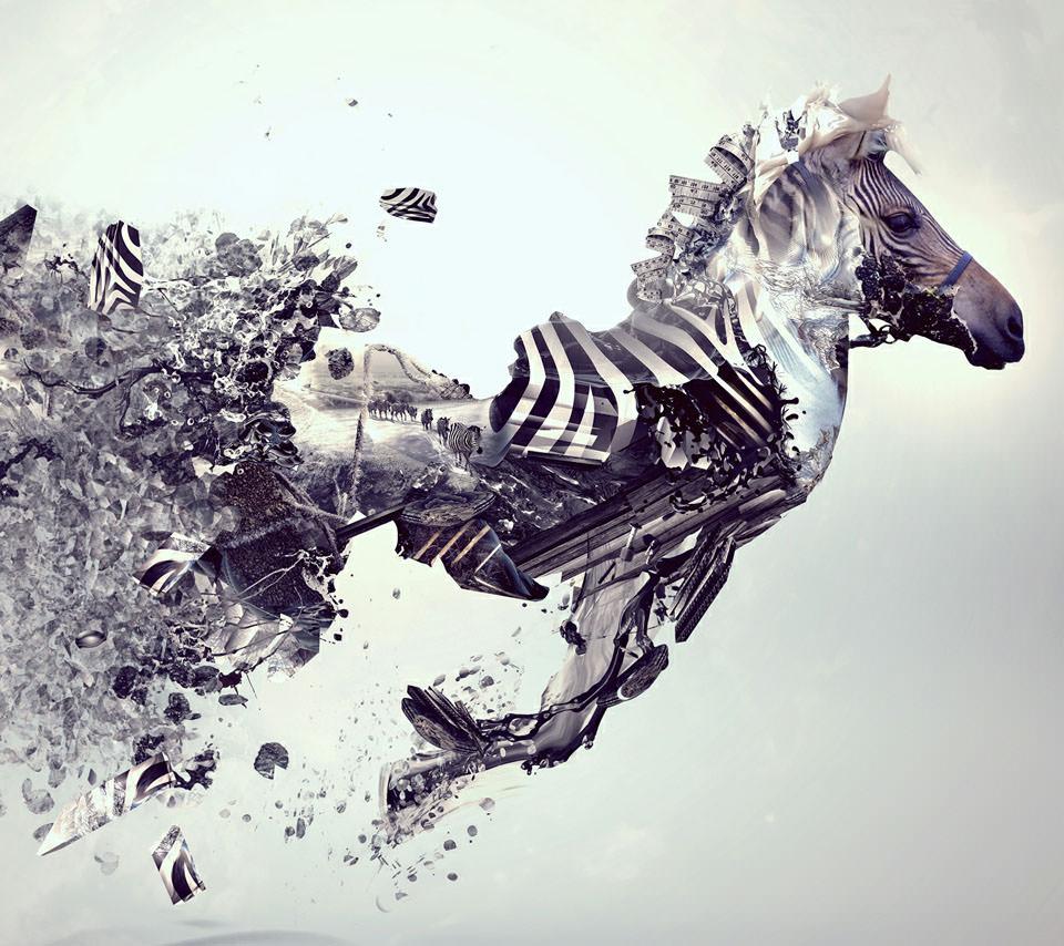 デザインシマウマの動物壁紙