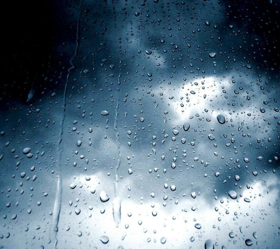雨梅雨のガラス スマホ用壁紙(Android用/960×854)