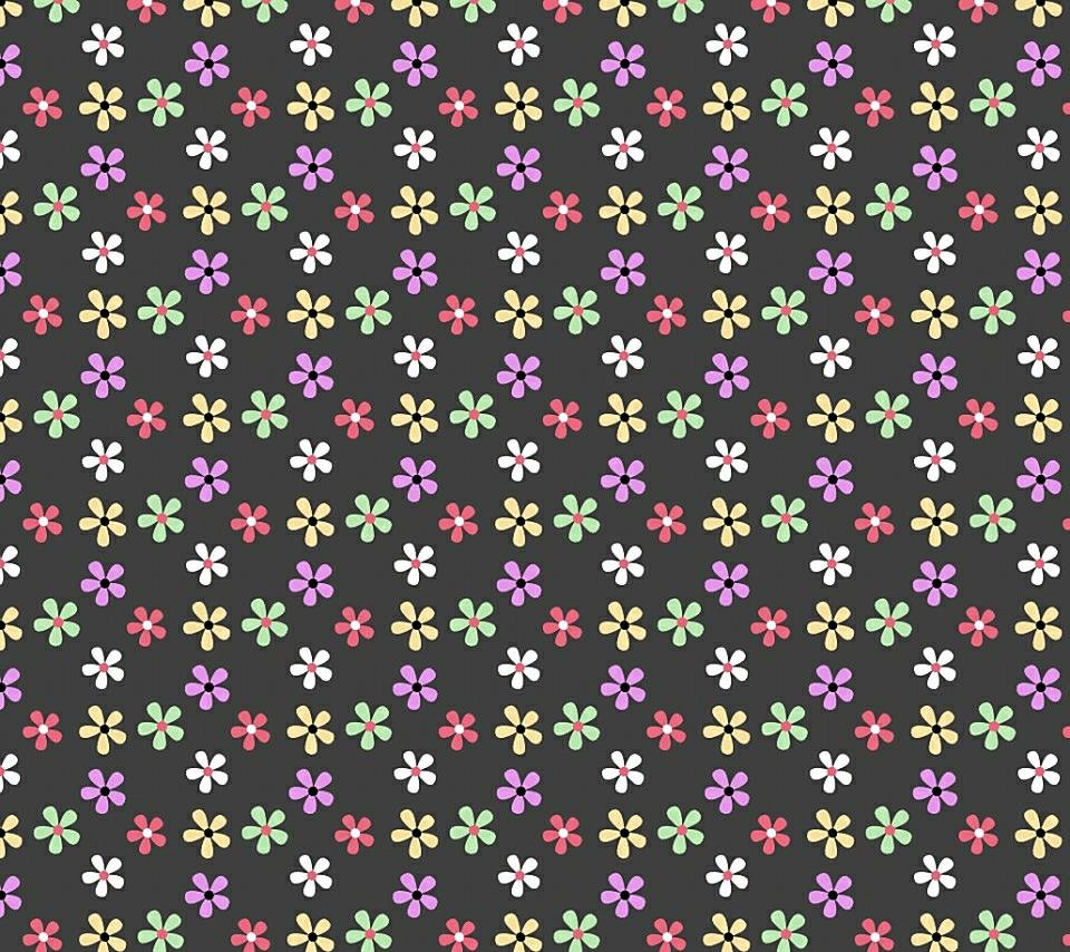 かわいい花柄のスマホ用壁紙(Android用/960×854)