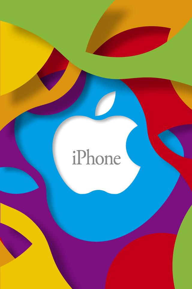 カラフルなiPhone スマホ用壁紙(iPhone用/640×960)