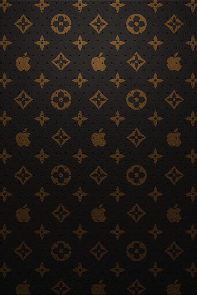黒のルイ・ヴィトン スマホ用壁紙(iPhone用/640×960)