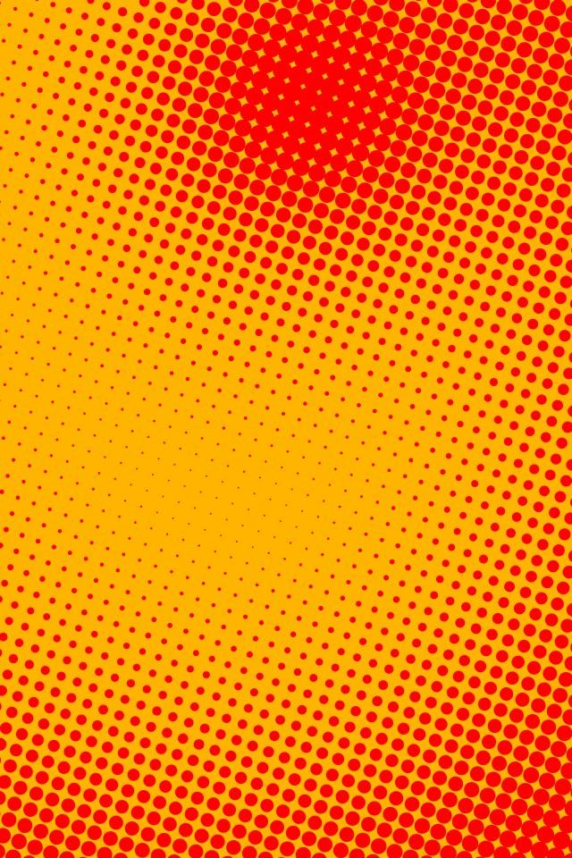 オレンジのドット スマホ用壁紙(iPhone用/640×960)