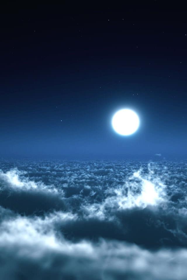 満月の夜 スマホ用壁紙 Iphone用 640 960 Wallpaperbox