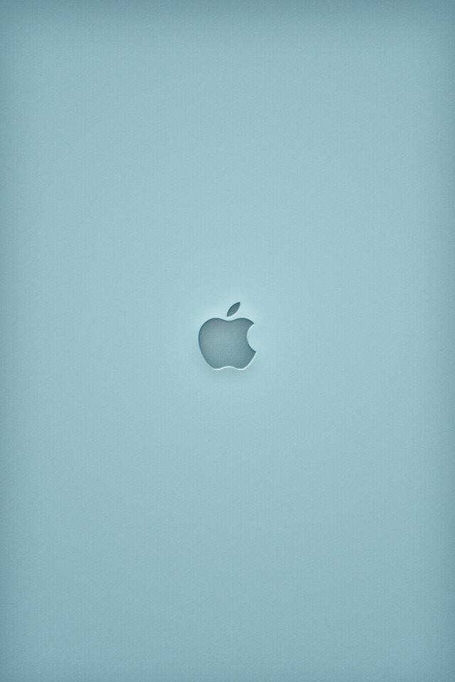 シンプルなリンゴ スマホ用壁紙(iPhone用/640×960)