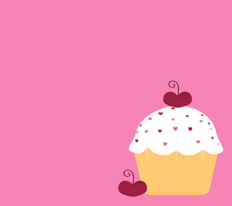 かわいいカップケーキ スマホ用壁紙(Android用/960×854)