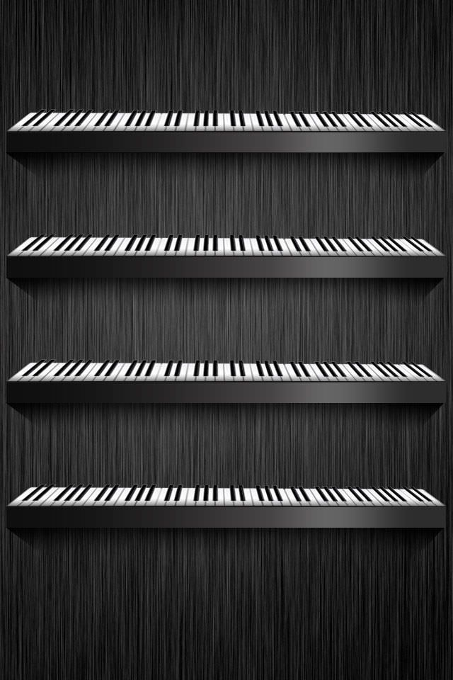 お洒落なピアノの鍵盤 スマホ用壁紙(iPhone用/640×960)
