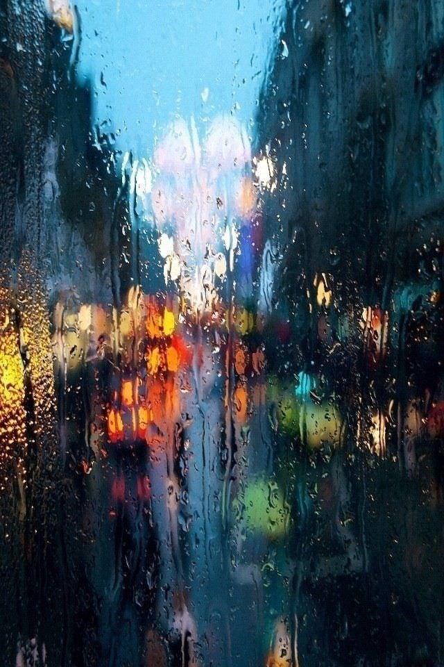 濡れたガラス iPhoneスマホ用壁紙