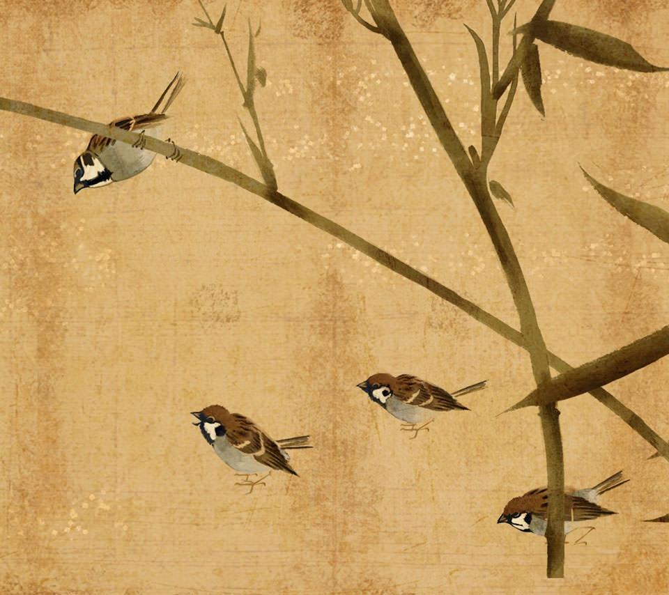 雀のイラスト画像