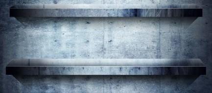コンクリート調の棚 iPhoneスマホ用壁紙