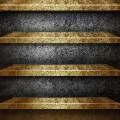 金の棚 iPhoneスマホ用壁紙