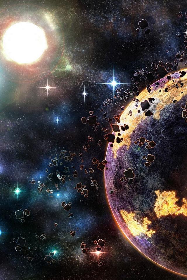 宇宙の果て iPhoneスマホ用壁紙