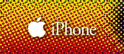 ドットのロゴ iPhoneスマホ用壁紙