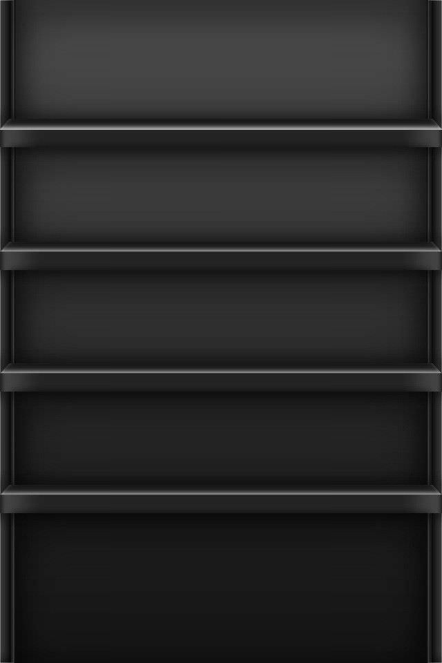 シンプルな黒い棚 iPhoneスマホ用壁紙