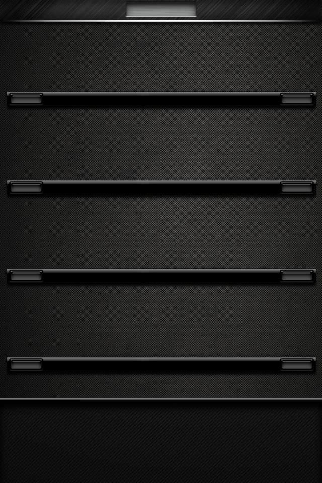 かっこいい黒の棚 iPhoneスマホ用壁紙