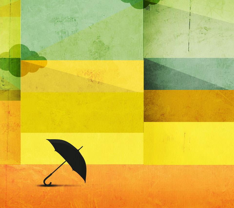 曇りのち雨 Androidスマホ用壁紙