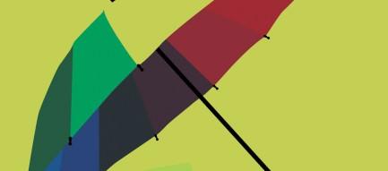 パステル調の傘 Androidスマホ用壁紙