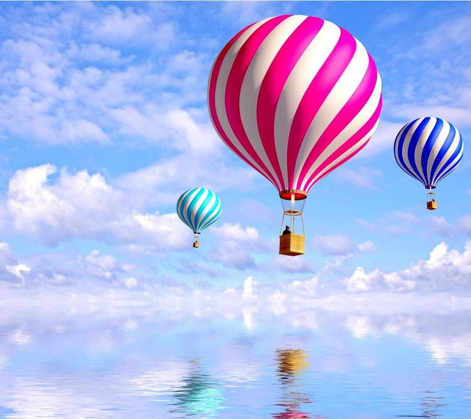 気球に乗って Androidスマホ用壁紙