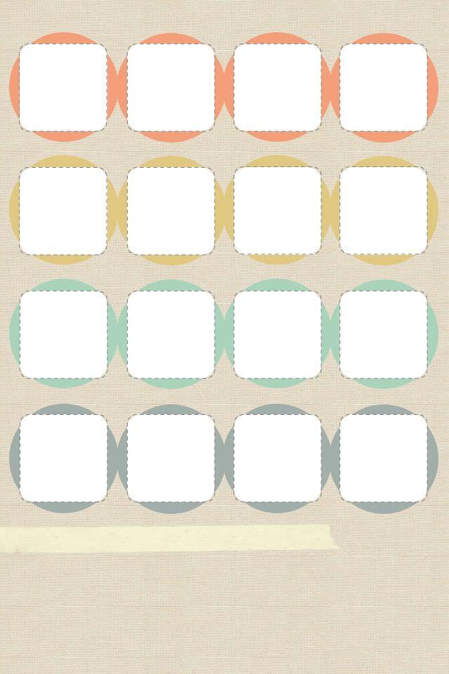 ファンシーカラー スマホ用壁紙(iPhone用/640×960)