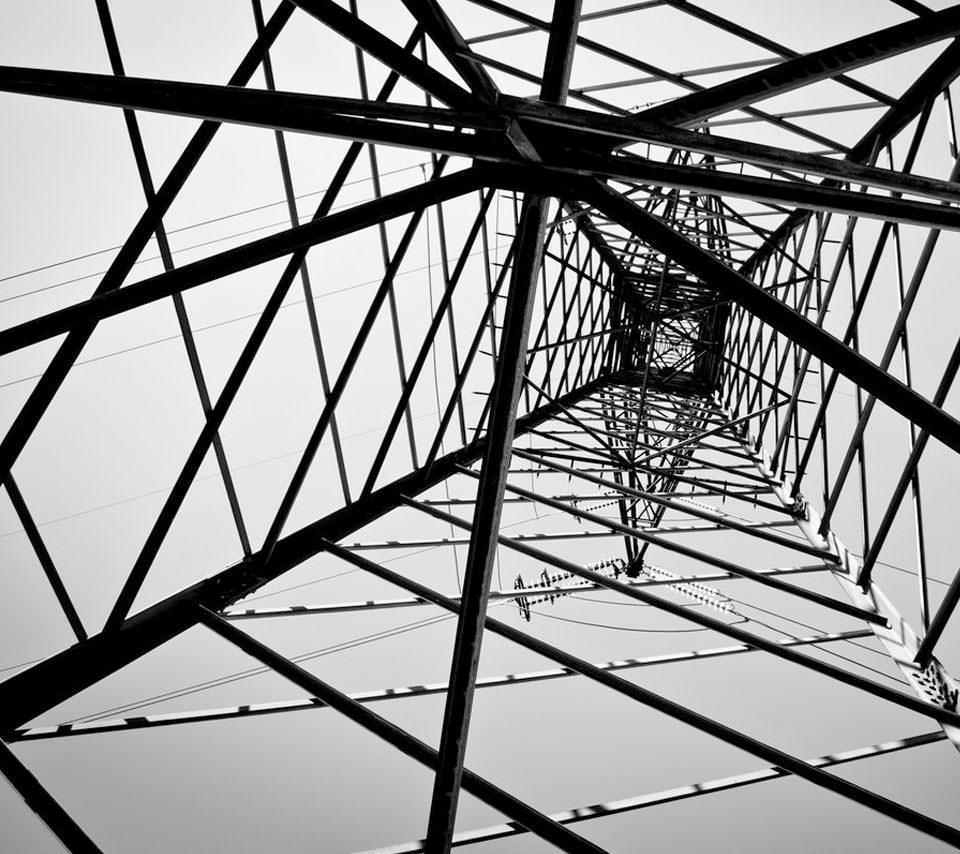 見上げる鉄塔 Androidスマホ用壁紙