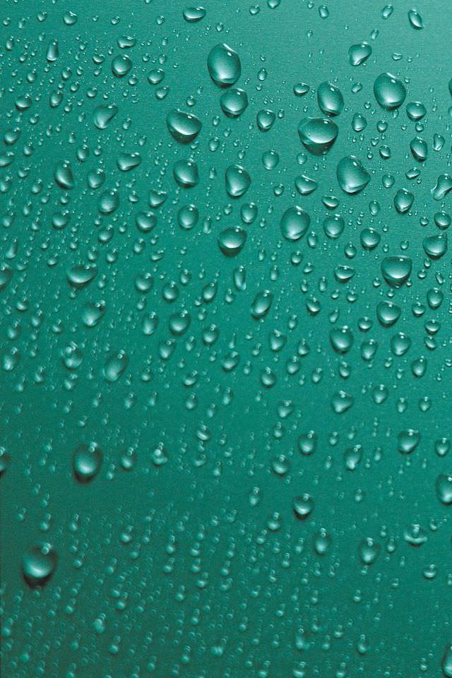 ガラスの水滴 iPhoneスマホ用壁紙