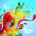 花と蝶 iPhoneスマホ用壁紙