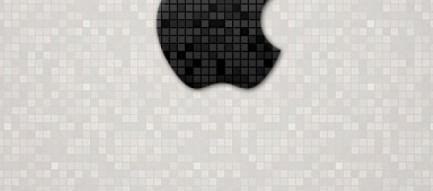 スタイリッシュなAppleロゴ iPhone5 スマホ用壁紙