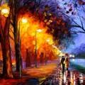 雨の路道 Androidスマホ用壁紙
