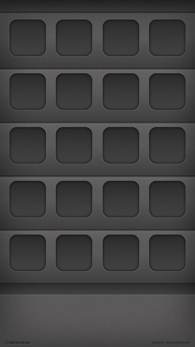 黒の棚 iPhone5 スマホ用壁紙