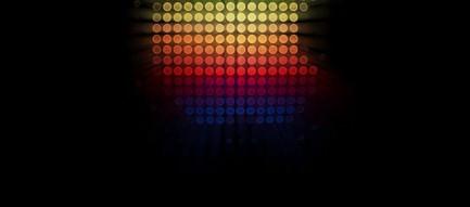 カラフルなアップルロゴ iPhone5 スマホ用壁紙