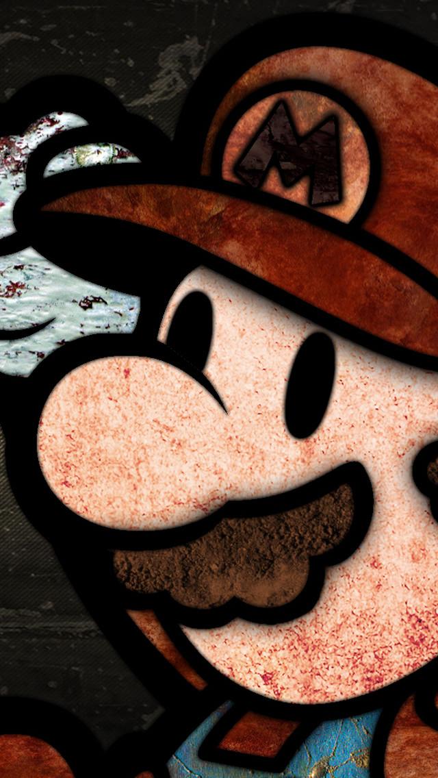 スーパーマリオ iPhone5 スマホ用壁紙