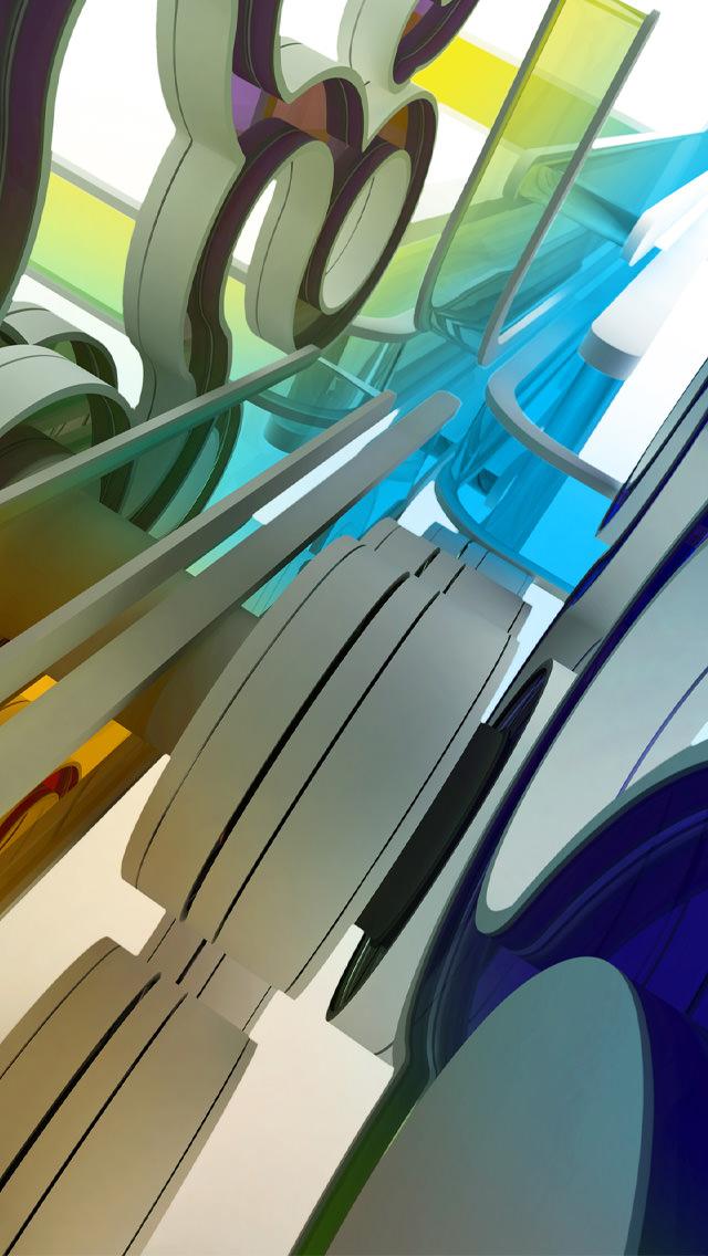 抽象的なiPhone5 スマホ用壁紙