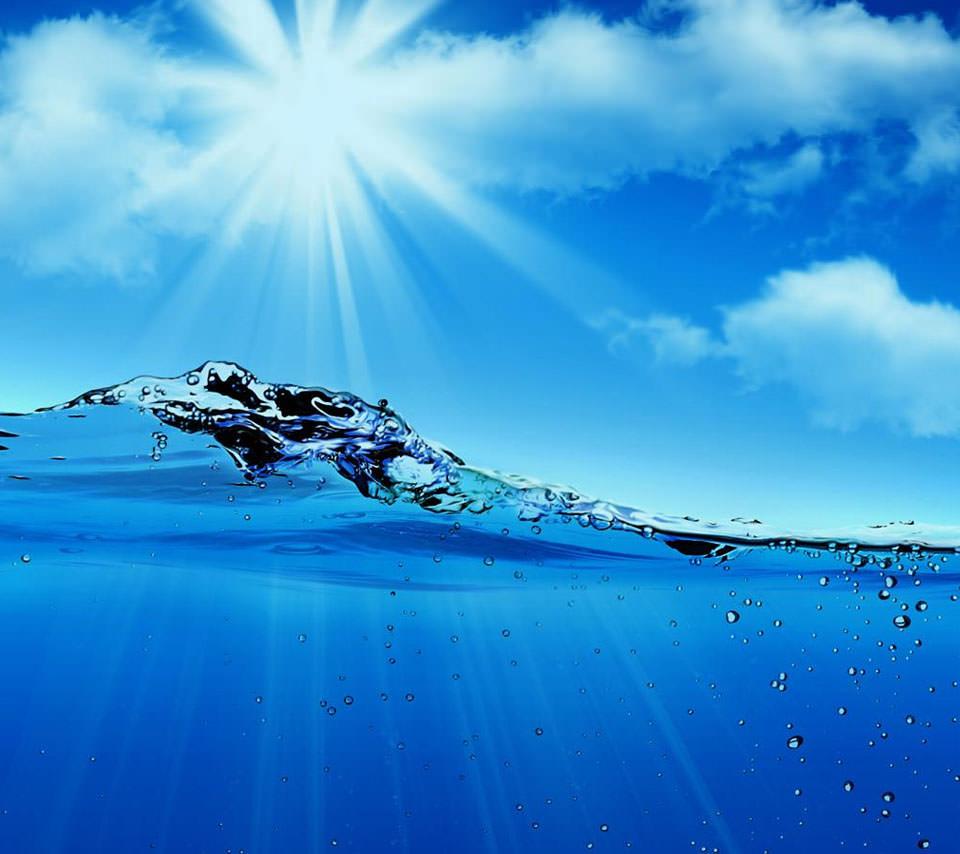揺らぐ水面 Androidスマホ用壁紙