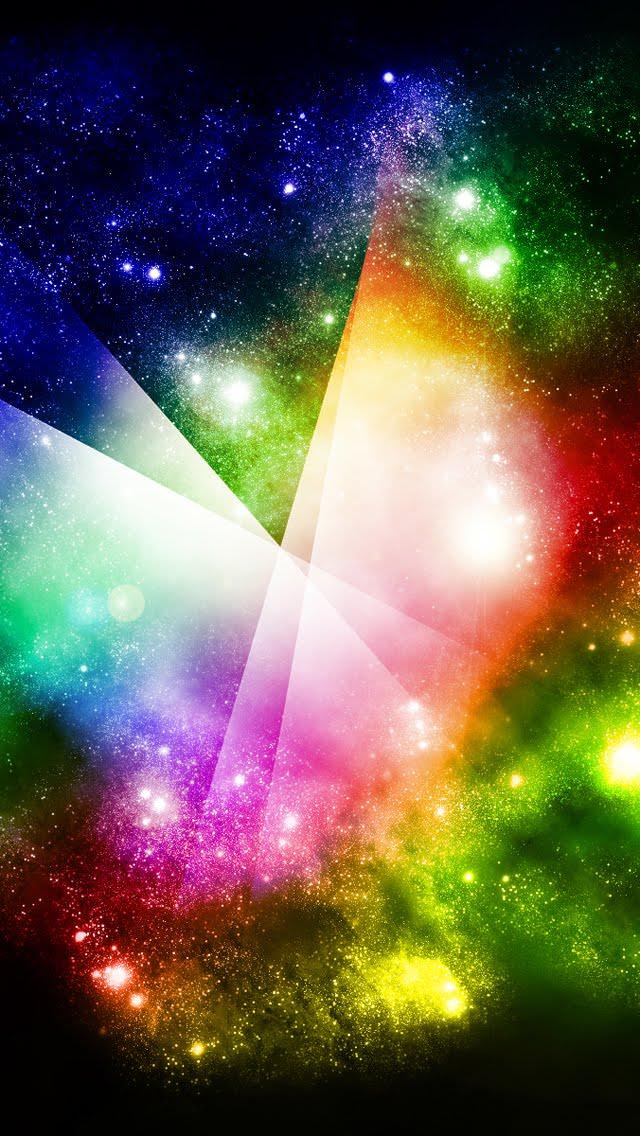 七色の星雲 iPhone5 スマホ用壁紙