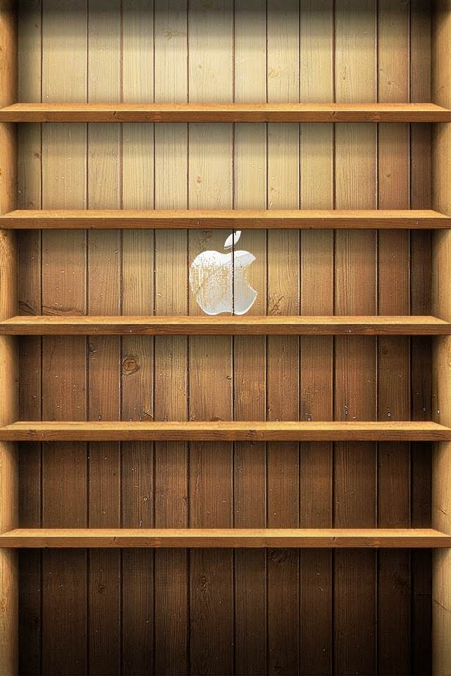Appleの棚 iPhoneスマホ用壁紙