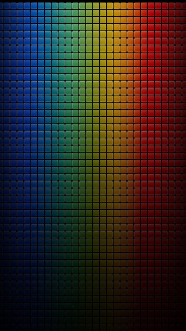 カラードット iPhone5 スマホ用壁紙