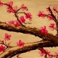和風の花模様 Androidスマホ用壁紙