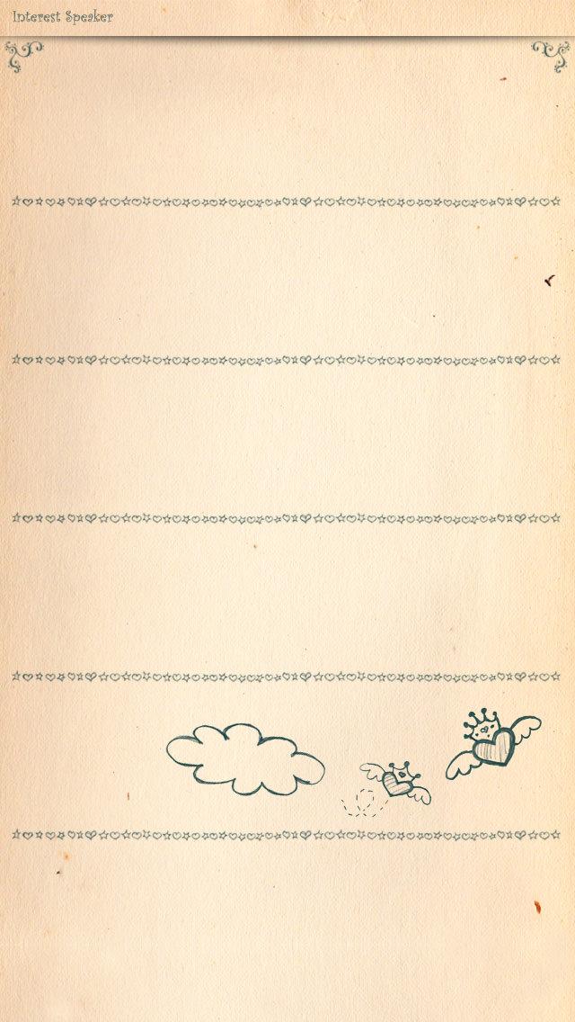 ガーリーなハートのiPhone5 スマホ用壁紙
