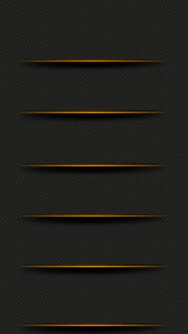 オレンジのライン iPhone5 スマホ用壁紙