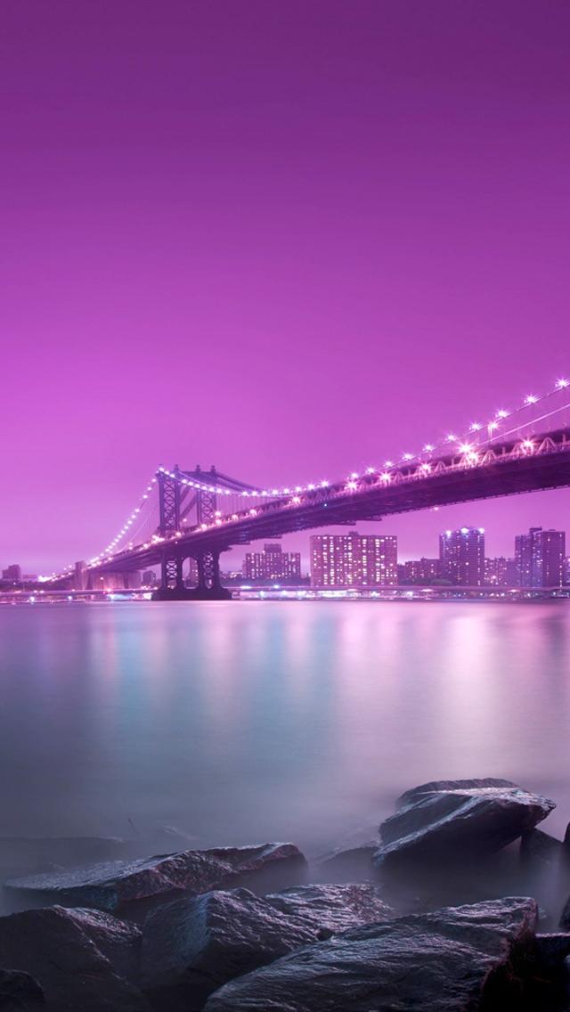 紫の橋 iPhone5 スマホ用壁紙
