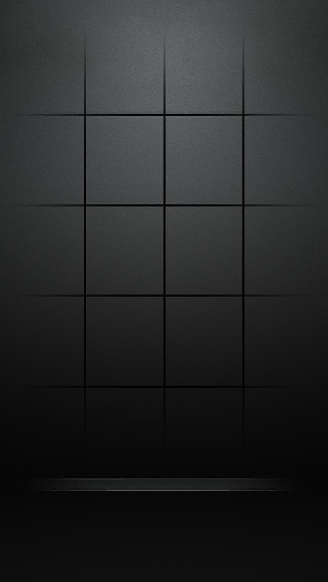 モダンな黒のiPhone5 スマホ用壁紙